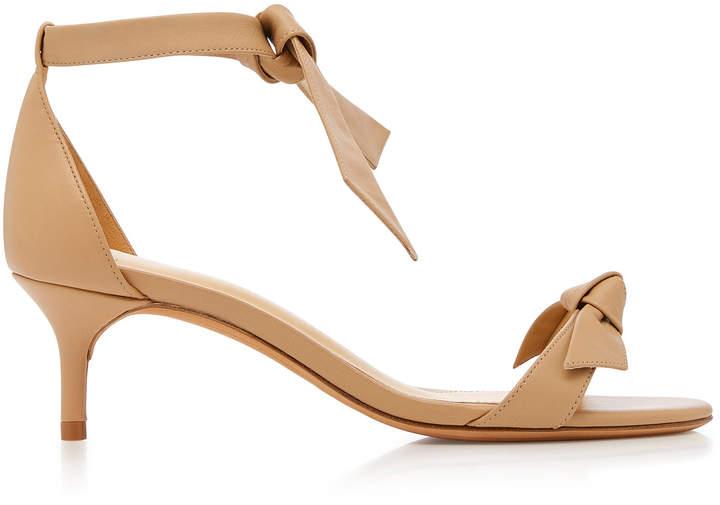 Alexandre Birman Clarita Leather Kitten Heels
