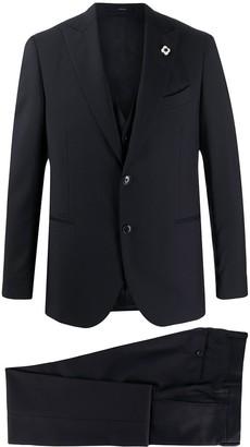 Lardini Single-Breasted Three-Piece Suit