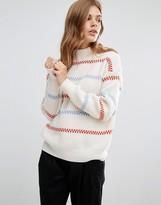 YMC Merino Wool Knit Stripe Jumper