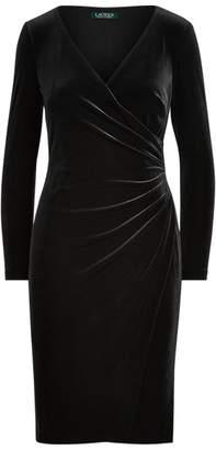 Ralph Lauren Velvet Surplice Dress