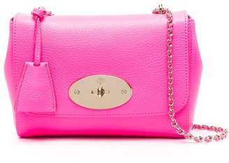 Mulberry Hot Pink Cross-Body Bag With Chain-Link Shoulder Strap