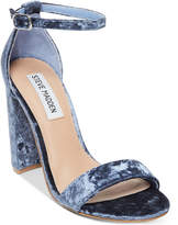Steve Madden Women's Carrson Crushed Velvet Dress Sandals