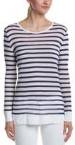 Macbeth Collection Stripe Linen-blend T-shirt.