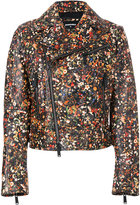 DSQUARED2 floral print biker jacket
