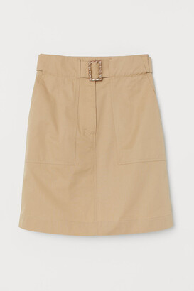 H&M Utility skirt with a belt