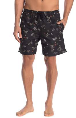 Saturdays NYC Timothy Lacquer Butterfly Swim Shorts
