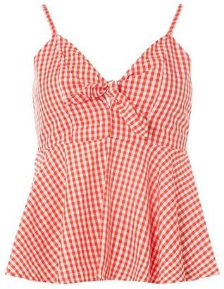 Dorothy Perkins Womens Vero Moda Red And White Peplum Top, Red