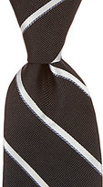 Roundtree & Yorke Trademark Gleam Stripe Narrow Silk Tie