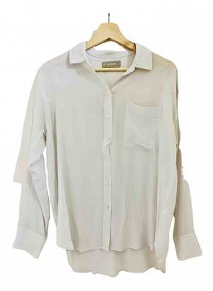 Everlane White Silk Tops
