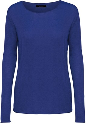 Oh Simple - Klein Blue Silk Cashmere Sweater - xs