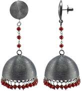 Silvestoo Jaipur Elegant Indian Saree Suit Jewellery-Round Jhumka Earring With Crystal Facetes Beads PG-110477