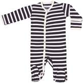 Maple Clothing Organic Cotton Baby Clothes Footie Sleeper GOTS Certified (Black Stripes, 0-3m)