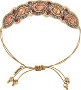 Pink Pewter Bronze Drawstring Bracelet