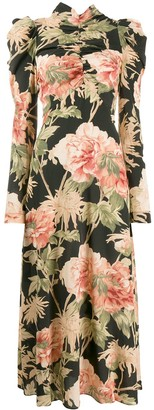 Zimmermann Floral Print Maxi Dress