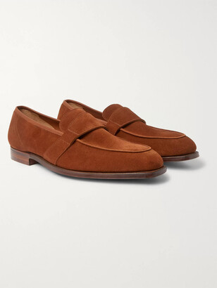 George Cleverley Owen Leather Penny Loafers
