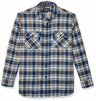 Pendleton Men's Long Sleeve Super Soft Burnside Flannel Shirt