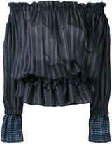 Hache striped off-shoulder blouse