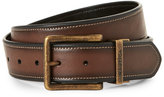 Nautica Faux Leather Belt with Antiqued Buckle