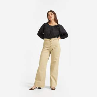 Everlane The Lightweight Button-Fly Wide Leg Chino