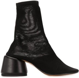 MM6 MAISON MARGIELA Stretch-Knit Ankle Boots
