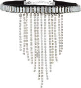 Lydell NYC Crystal Fringe Choker Necklace