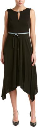 Karen Millen Handkerchief Hem Midi Dress
