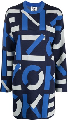 Kenzo Intarsia Logo Knitted Dress