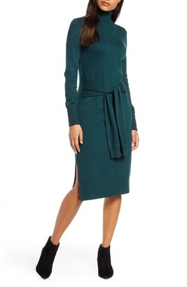 Eliza J Long Sleeve Turtleneck Sweater Dress