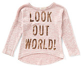Copper Key Little Girls 4-6X Look Out World Knit Top