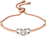 Links of London Signature 18ct rose gold and sapphire bracelet