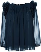 Steffen Schraut ruffled shoulder detailing blouse - women - Polyester - 38