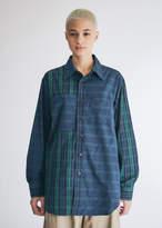 Engineered Garments Women's Work Shirt in Blackwatch Big Repeat Madra, Size 2XS | 100% Cotton