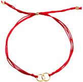 Dogeared VGB130-1A Friendship Linked Ring Silk Bracelet