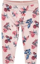 River Island Mini girls pink floral print leggings
