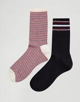 Pull&Bear 2 Pack Stripe Ankle Socks