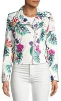 Vigoss Floral Perforated Stud Jacket