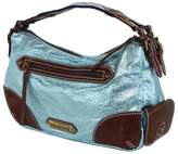 Isabella Fiore Light Blue Metallic Purse
