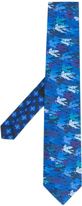 Etro All-Over Pegaso Camouflage tie