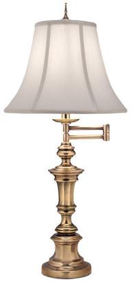 Stiffel   Lite Tops Stiffel Swing Arm Table Lamp, Burnished Brass