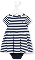 Ralph Lauren striped box pleat dress - kids - Cotton/Polyester/Spandex/Elastane - 6 mth