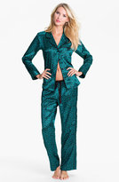 Betsey Johnson 'Cuddly Back Satin' Pajama Set