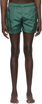 Off-White Green Logo Swim Shorts