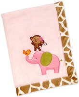 Carter's Jungle Embroidered Applique Plush Blanket Bedding