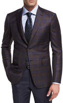 Brioni Plaid Wool Two-Button Sport Coat
