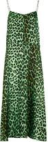 Thumbnail for your product : La Prestic Ouiston Rose leopard-print silk slip dress