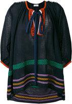 Sonia Rykiel contrast tunic - women - Cotton/Linen/Flax/Polyamide - S