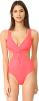 Shoshanna Cutout Twist One Piece