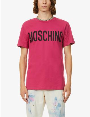 Moschino Logo-print crewneck cotton-jersey T-shirt