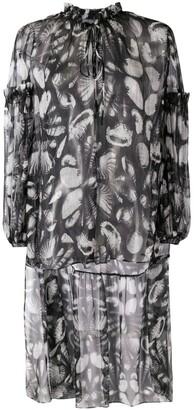 Alexander McQueen Seashell Print High-Low Blouse