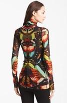 Jean Paul Gaultier Fuzzi Butterfly Print Tulle Turtleneck